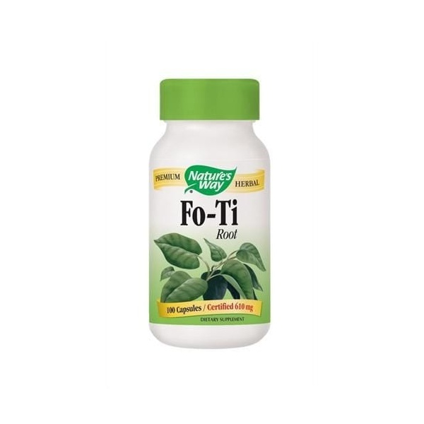 Fo-Ti (Raiz) - Nature`s Way - 610 mg - 100 Capsules