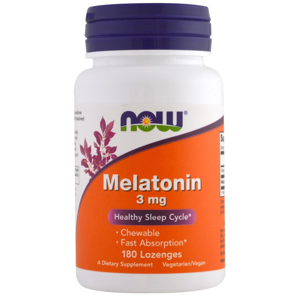 Melatonina, Now Foods, 3 mg, 180 Cápsulas