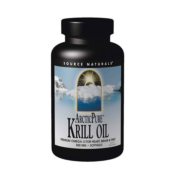 Krill Omega 3 Puro do Polo Ártico - Source Naturals - 500 mg - 120 Softgels