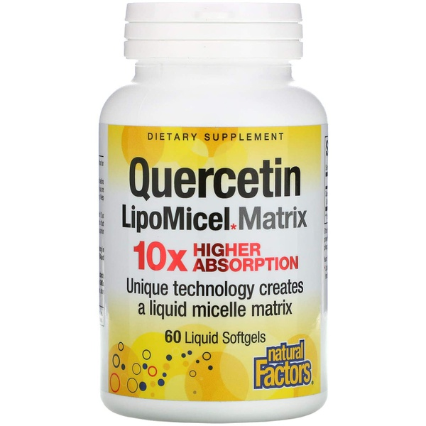 Quercetina LipoMicel Matrix 125mg - Natural Factors - 60 cápsulas líquidas