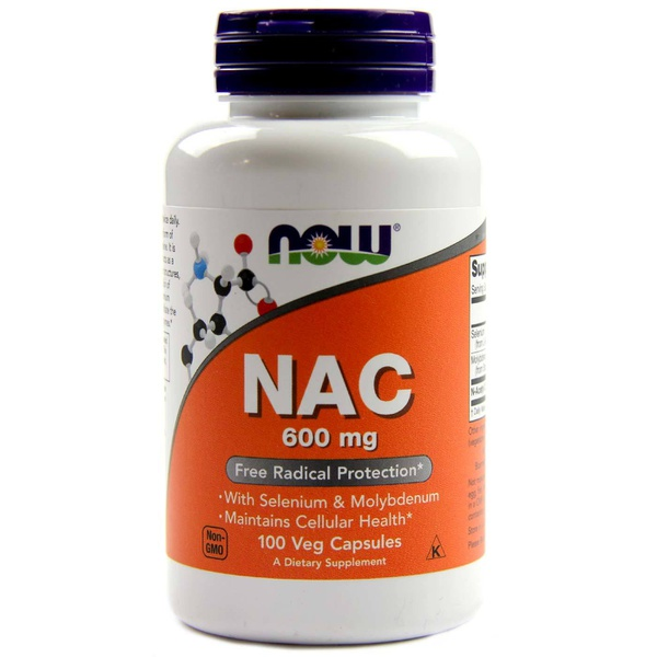 NAC (N-Acetilcisteína), Now Foods, 600 mg, 100 Vcaps