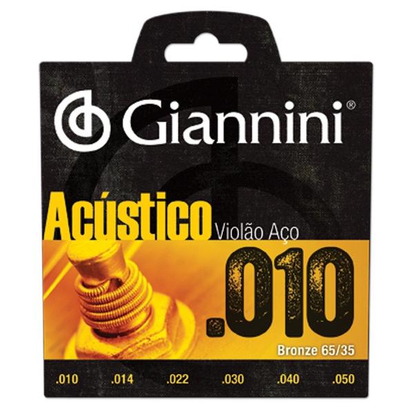 Cordas Para Violão Giannini Aço (conjunto) 011