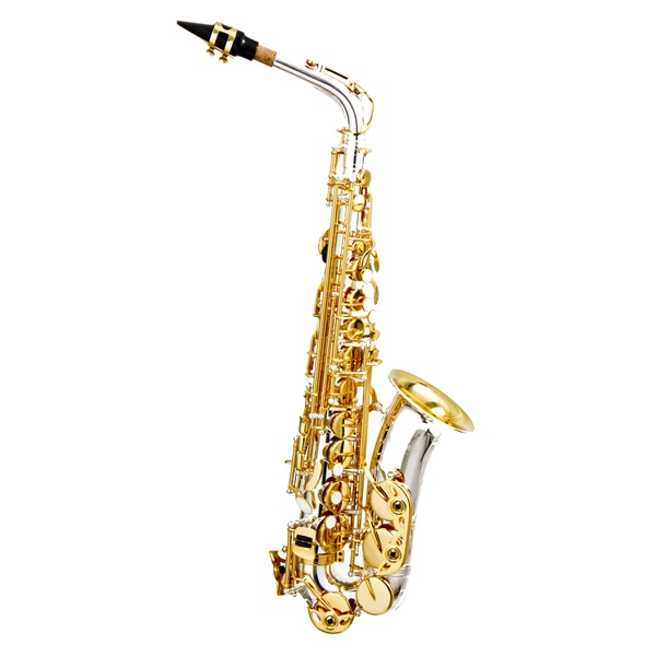 Sax Alto Hoyden Prata com chaves Douradas