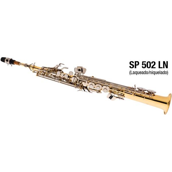 Sax Soprano Laqueado com Niquelado Eagle