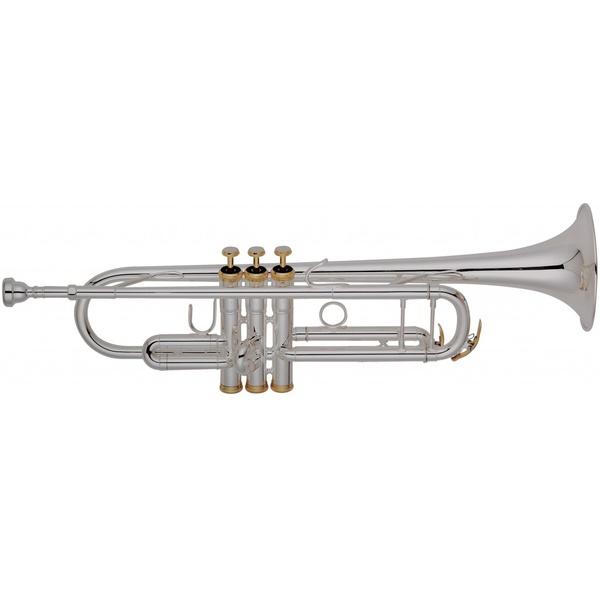Trompete Sib Prateado Com Acabamento Dourado Hoyden