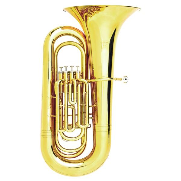 Tuba Sinfônica 4/4 4 Pistos Laqueada Hoyden