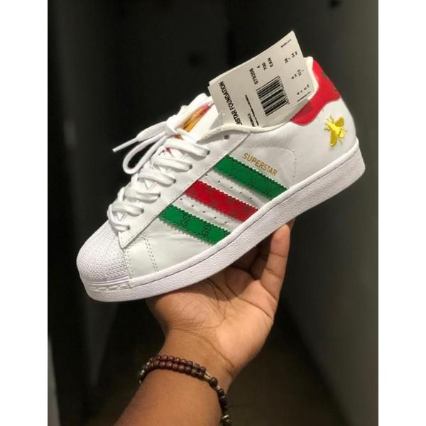 TÊnis Adidas Superstar Foundation Gucci - Importado