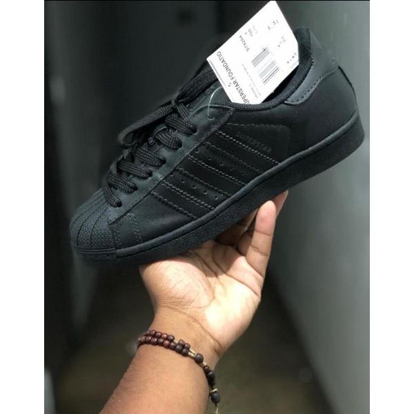 TÊnis Adidas Superstar Foundation Preto Inteiro - Importado