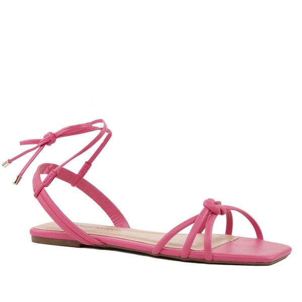 Sandália Rasteira Amarração Nó Pink