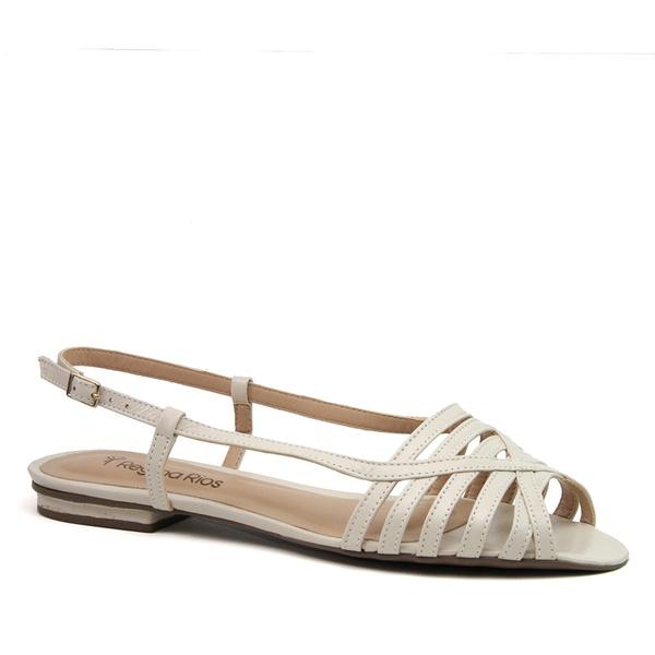 Peep Flat Tiras Off White