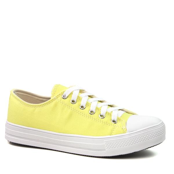 Tênis Cadarço Lona Amarelo
