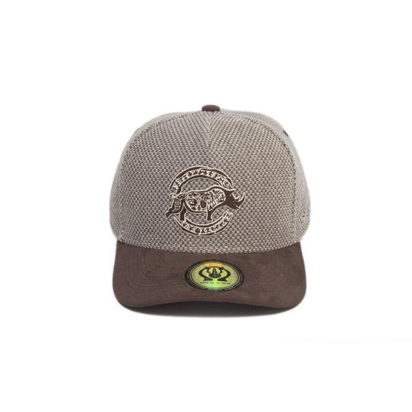 Boné Trucker Rhino Size Tribal Caqui/Marrom
