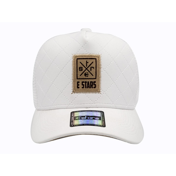 Boné E-STARS Trucker Aba Curva Neo Prene Branco