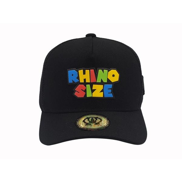 Boné Trucker Rhino Size Preto Rhino Colorido