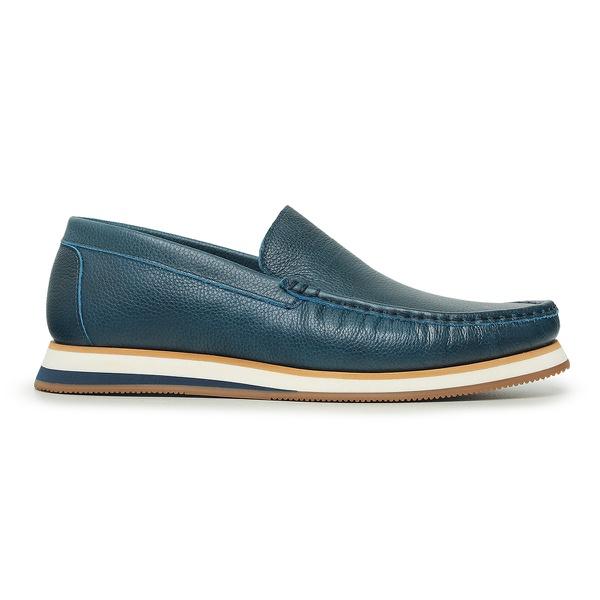 Sapato CasualTokyo Masculino Couro Azul