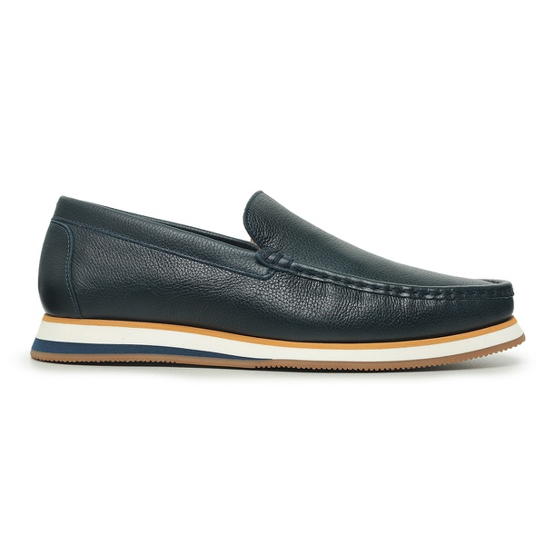 Sapato Casual Tokyo Masculino Couro Azul Dark