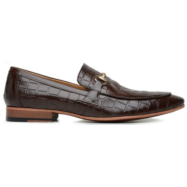 Sapato Social Masculino Croco Moss