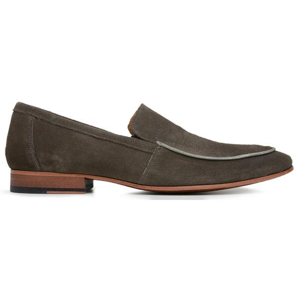 Sapato Social Masculino Camurça Taupe
