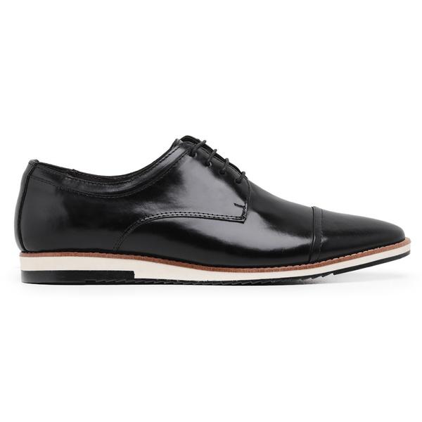 Sapato Casual Masculino Couro Preto Riccally