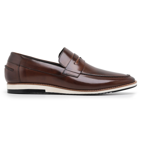 Sapato Casual Masculino Couro Wisky Riccally