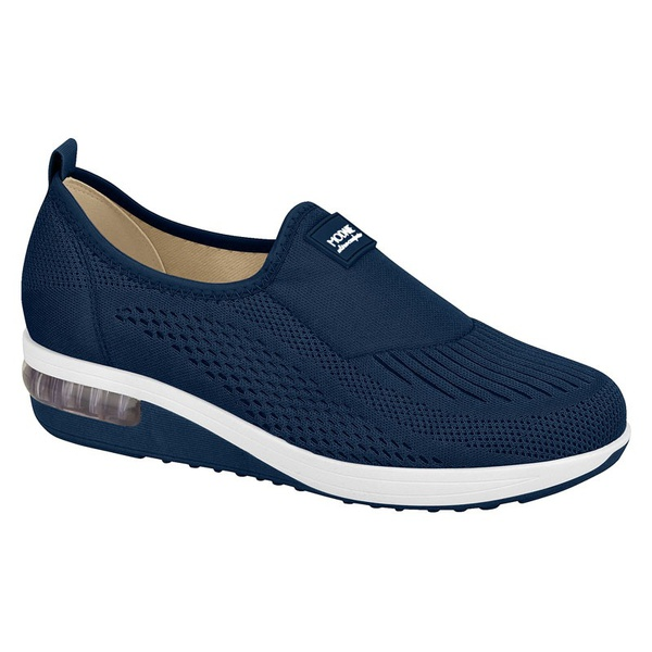 Slip On Modare Ultraconforto Sola Gel Azul Marinho