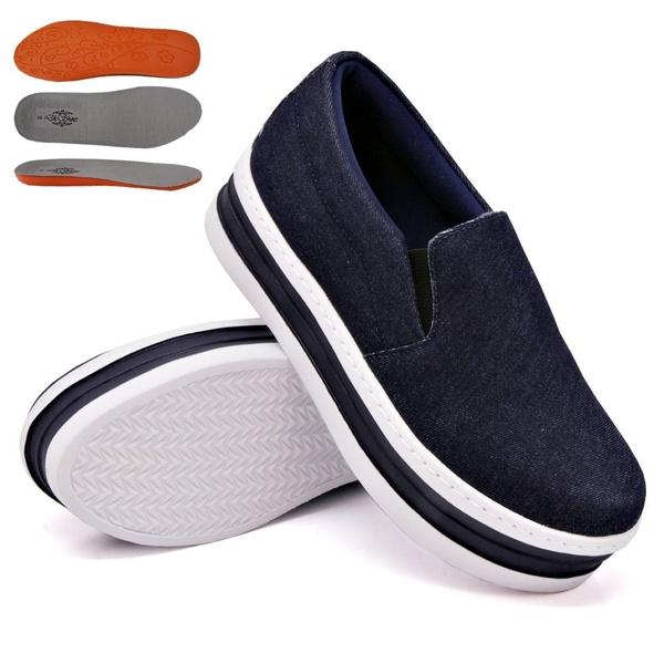 Slip On Liso Sola Alta Jeans DKShoes