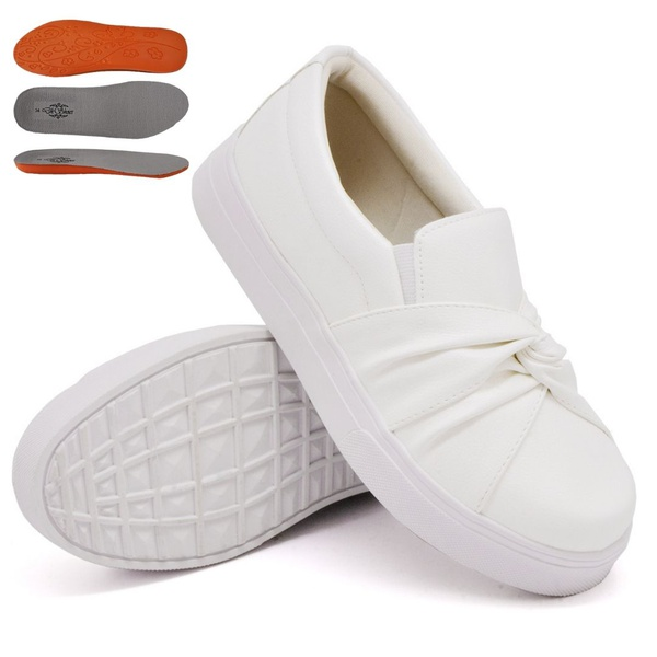 Slip On Nó Branco DKShoes