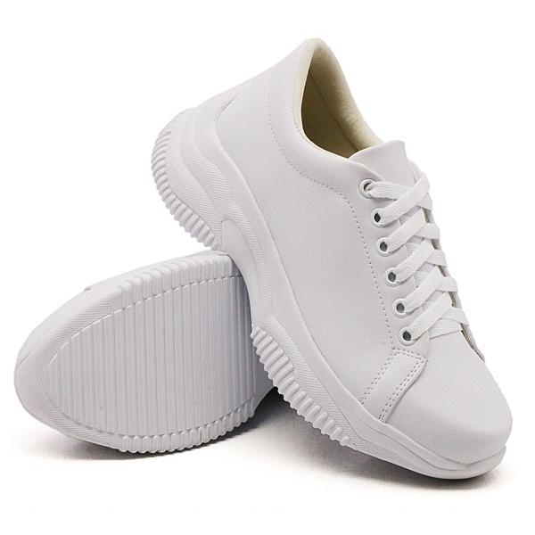Tênis Casual Chuncky Branco Sola Tratorada DKShoes