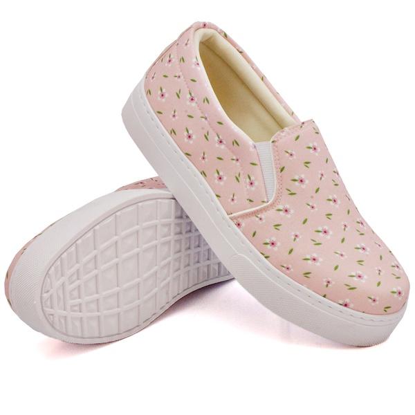 Slip On Estampado Rosê DKShoes