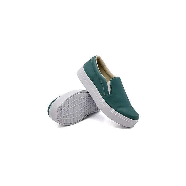 Slip On Liso Infantil Verde Pino DKShoes