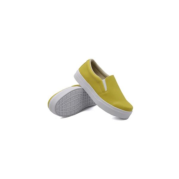 Slip On Liso Infantil Mostarda DKShoes