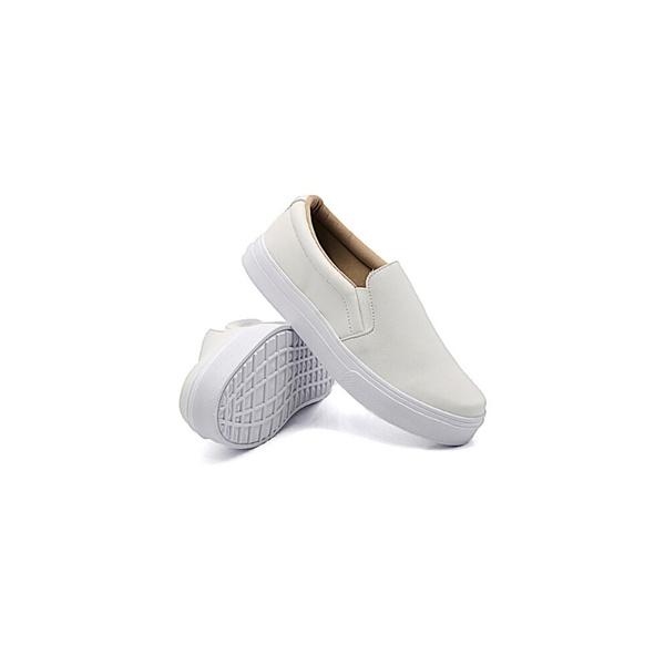 Slip On Liso Infantil Branco DKShoes