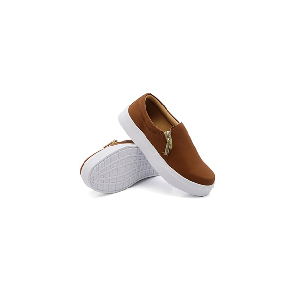 Slip On Zíper Infantil Caramelo DKShoes