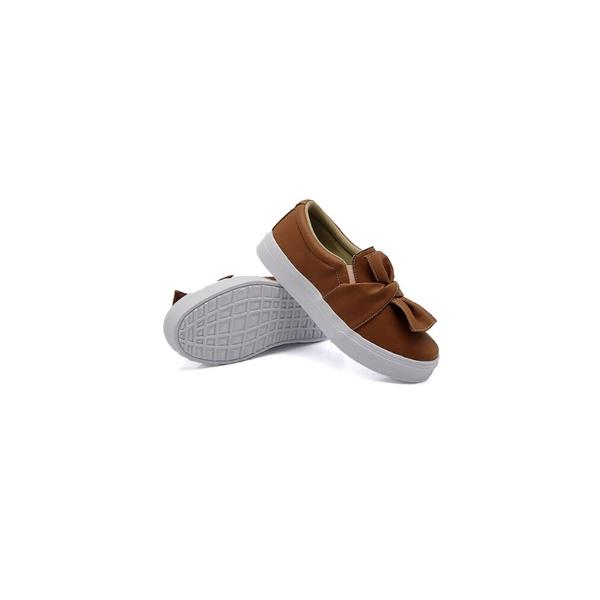 Slip On Laço Infantil Caramelo DKShoes