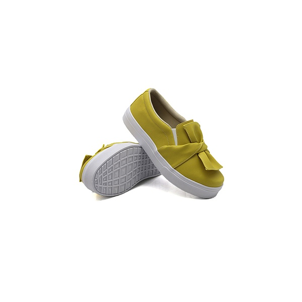 Slip On Laço Infantil Mostarda DKShoes