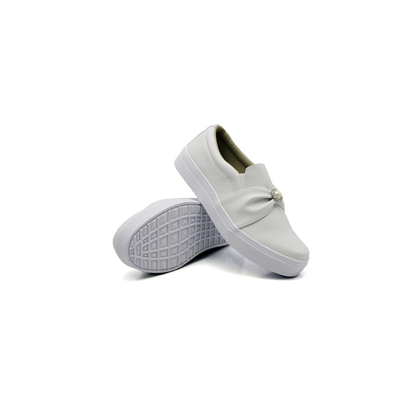 Slip On Pérola Infantil Branco DKShoes