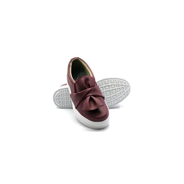 Slip On Laço Infantil Marsala DKShoes
