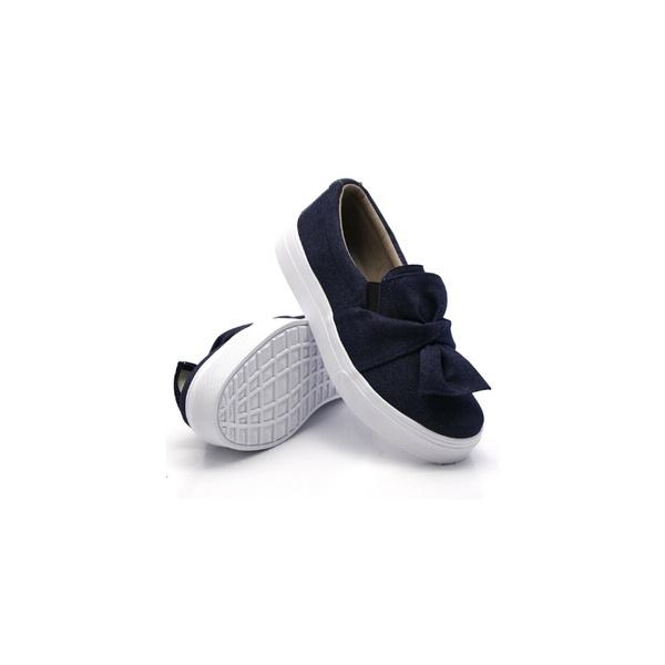Slip On Laço Infantil Jeans DKShoes