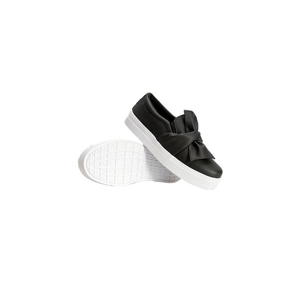 Slip On Laço Infantil Preto DKShoes