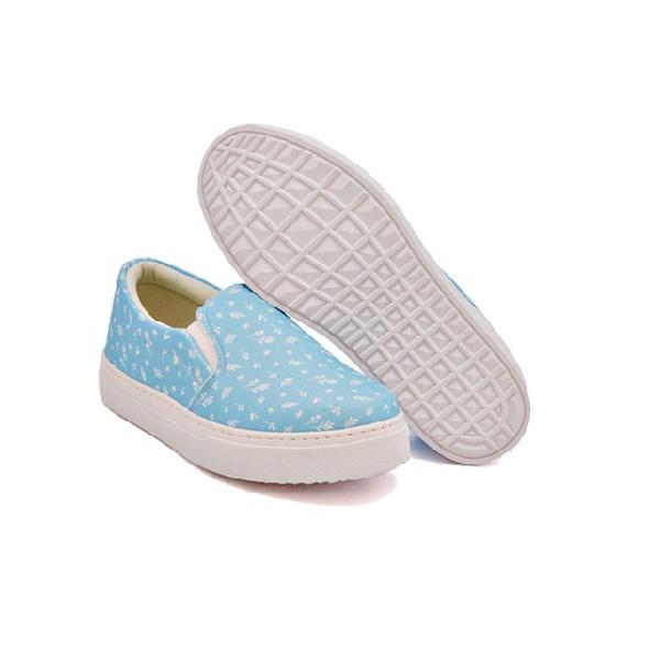 Slip On Estampado Infantil Azul Céu DKShoes