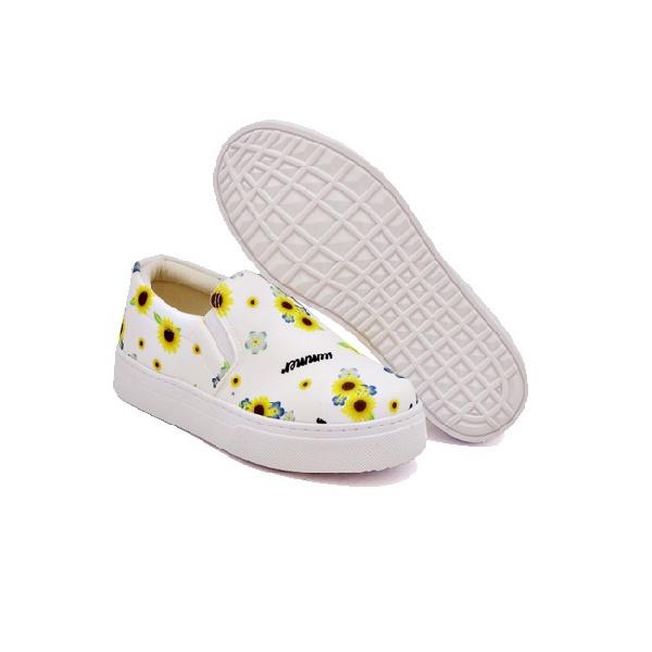 Slip On Estampado Infantil Branco DKShoes