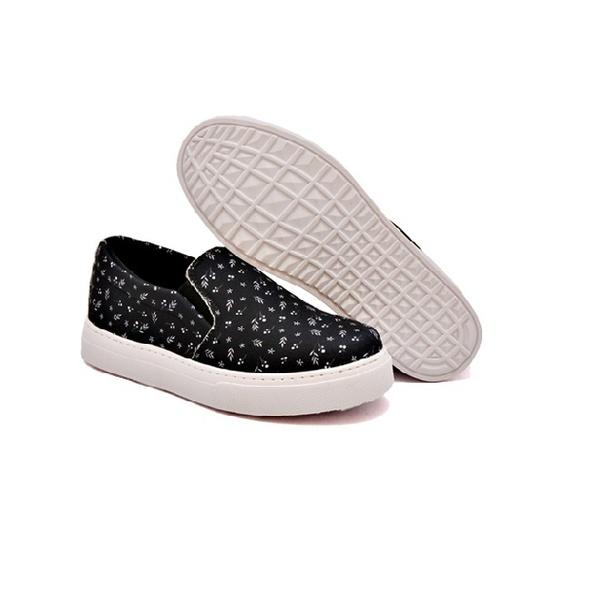 Slip On Estampado Infantil Preto DKShoes