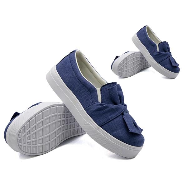 Tal mãe, tal filha: Slip On Laço Jeans Claro DKShoes