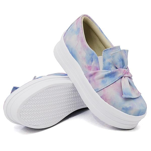 Slip On Laço Sola Alta Tie Dye DKShoes