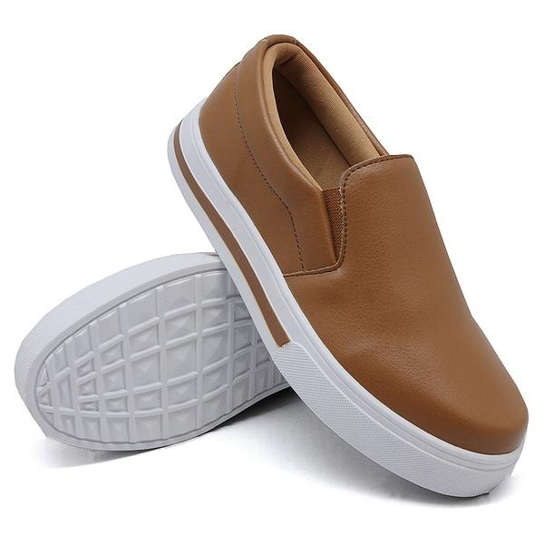 Slip On Calce Fácil Liso Caramelo DKShoes