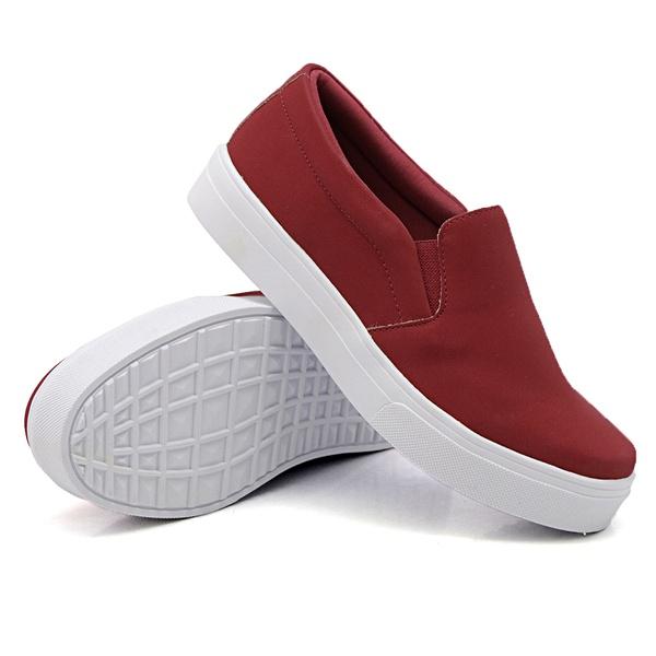 Slip On Liso Vermelho DKShoes