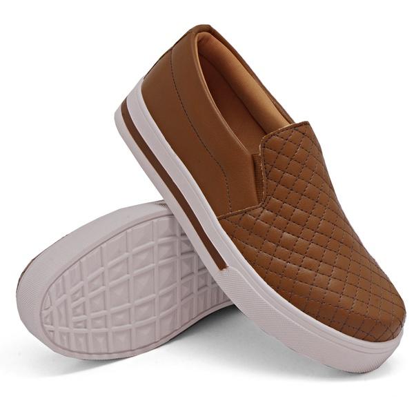 Slip On Matelassê Caramelo DKShoes