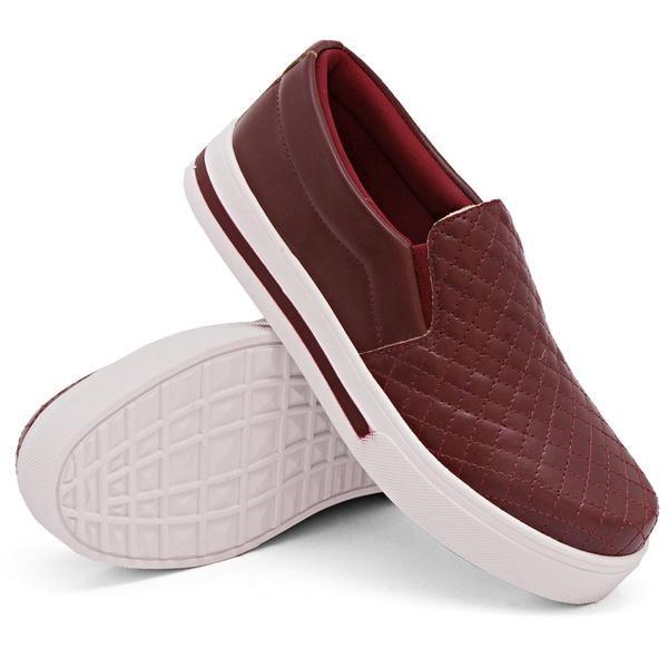 Slip On Matelassê Marsala DKShoes