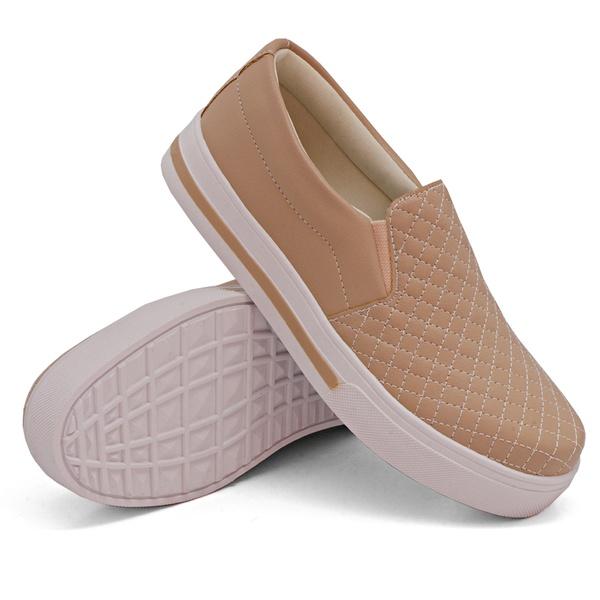 Slip On Matelassê rosê DKShoes