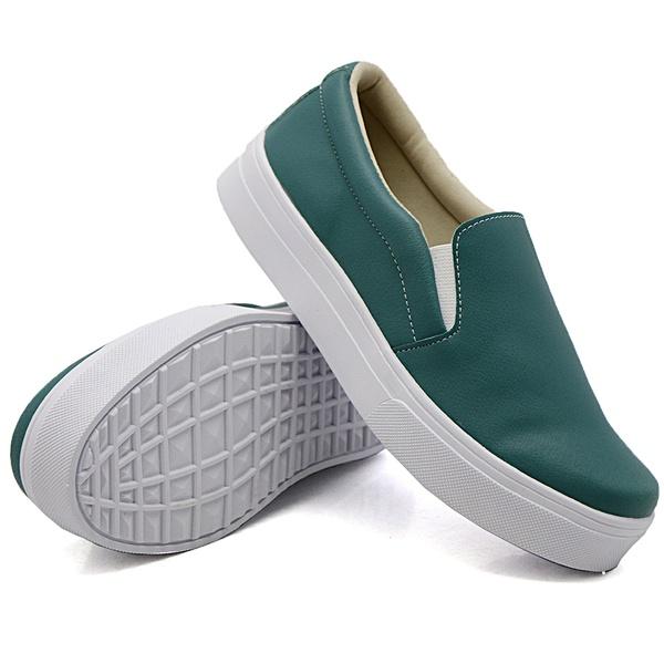 Slip On Liso Verde Pino DKShoes